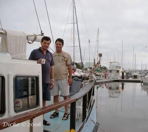 Mooloolaba Yacht Club. Bob and Craig