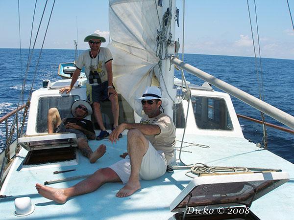 Sailing down the east coast