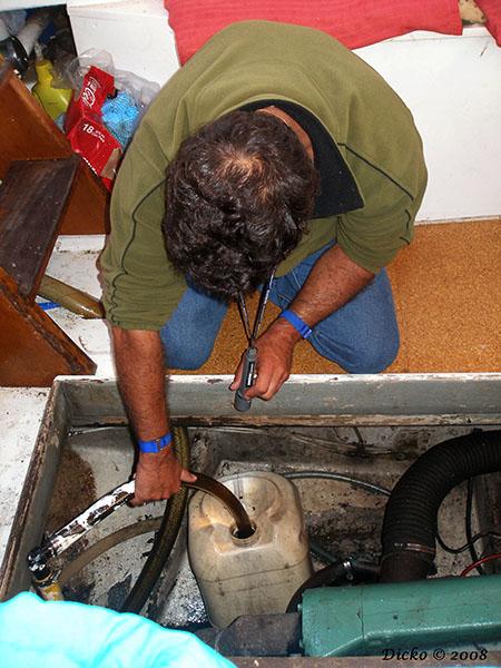 Pumping the bilge