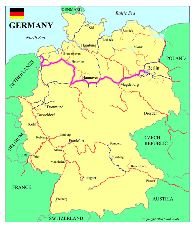 Germany waterways map-1 72