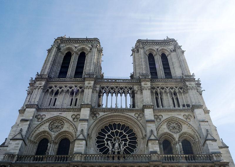 Notre Dame and Eiffel Tower, Paris